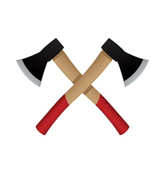 Two axes emblem icon vector