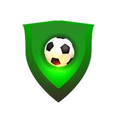 Ball on green shield vector