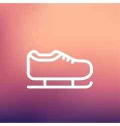 Ice skate thin line icon vector