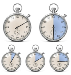 Retro stopwatch set vector