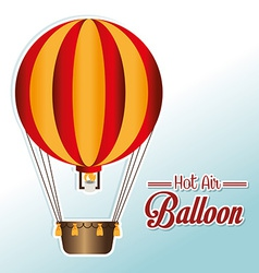 Airballoon design over white background vector