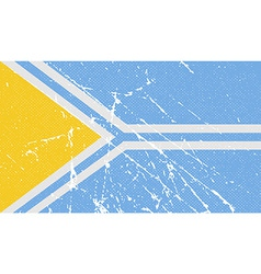 Flag of tuva republic russia with old texture vector