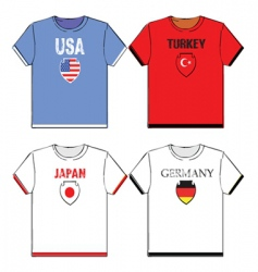 Football t-shirts vector