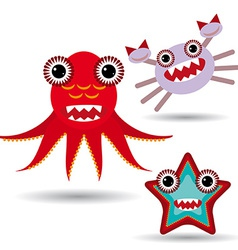 Cute cartoon monster on a white background vector