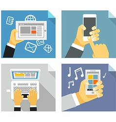 Modern technology concepts vector