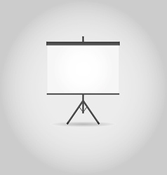 Blank projection screen with copy space vector