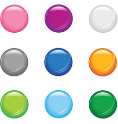 Simple shiny buttons vector