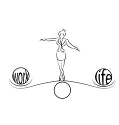 Woman balance of life vector