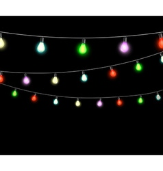 Festive garlands of colored lights vector