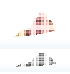 Map of usa virginia state with dot pattern vector