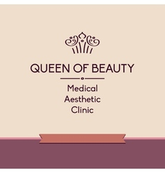 Queen of beauty logo for aesthetic medicine vector