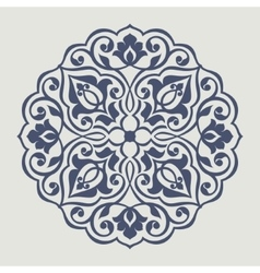 Persian round pattern vector