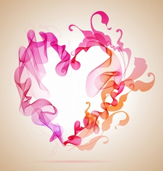 Floral abstratct heart vector