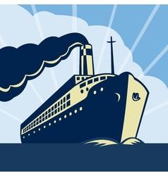 Ocean liner passenger boat ship vector