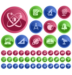 Education buttons vector