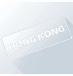 Hong kong unique button vector