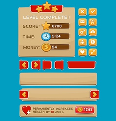 Interface buttons set for games or apps3 vector