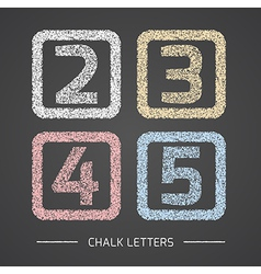 Chalk numbers set vector