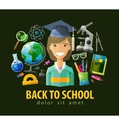 School education icons set collection of vector