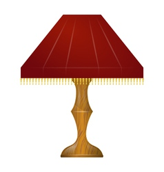 A red table lamp vector