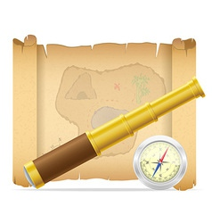 Pirate treasure map 02 vector