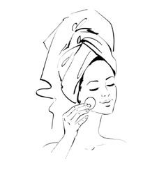 Girl skin care vector