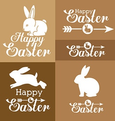 Happy easter card design vector