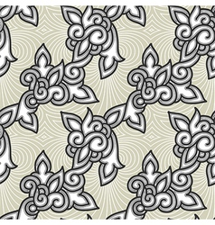 Seamless floral background pattern vector