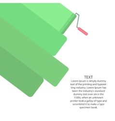 Paint roller ad banner template vector