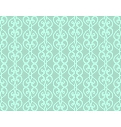 Blue vintage forged lacing seamless pattern vector
