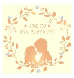 Love wreath vector