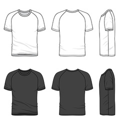 Raglan sleeve t-shirt vector
