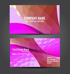 Attractive business card template vector