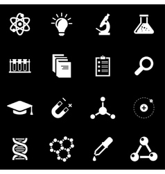 White science icon set vector