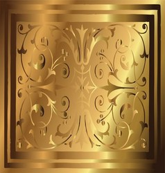 Abstract copper gold background of elegant vintage vector