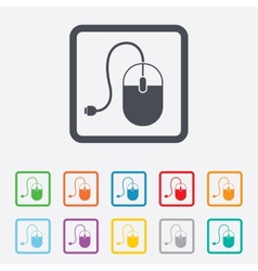 Computer mouse sign icon optical with wheel vector