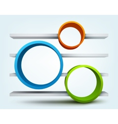 Abstract 3d rings with place for text vector