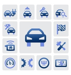 Auto and repair icons vector
