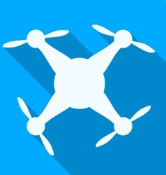 Circle icon for white quadrocopter vector
