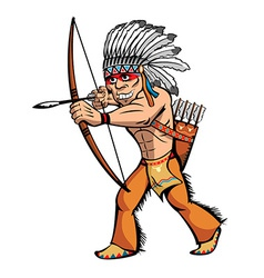 Cartoon native american vector