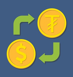 Currency exchange dollar and tugrik vector