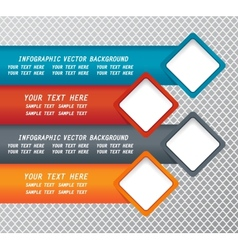 Modern infographic background vector