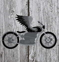 Vintage motorcycle vector