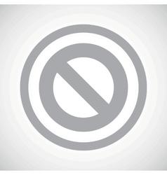Grey no sign icon vector