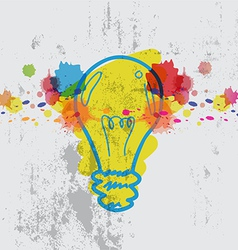 Lamp with watercolor splash vector
