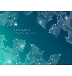Abstract blue background made from triangles vector
