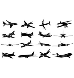 Air plane icons set vector