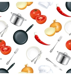 Background kitchen seamless vector