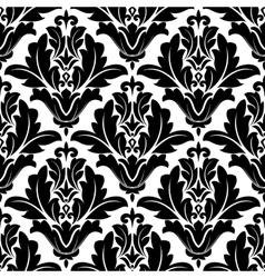 Bold black and white arabesque pattern design vector