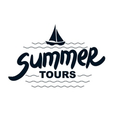 Summer tours - typographic design vector